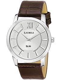 Laurels Slim Silver Men Watch