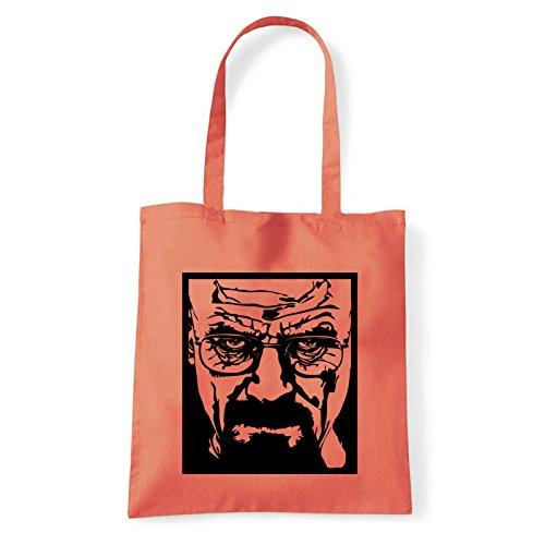Art T-shirt, Borsa Shoulder Heisenberg, Shopper, Mare Corallo