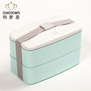 Lunch box double couche superbe boîte repas chauffante au micro-ondes Four Isolation Lunch Box Boîte à repas avec col blanc