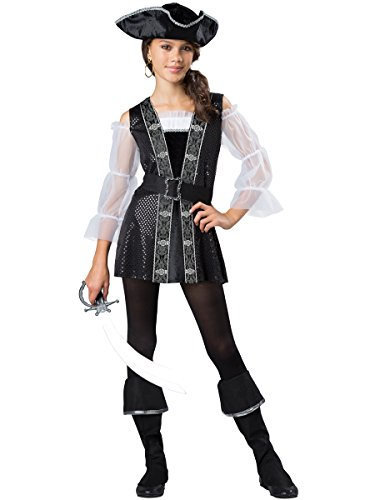 InCharacter Costumes Dark Pirate Costume, One Color, Small by InCharacter