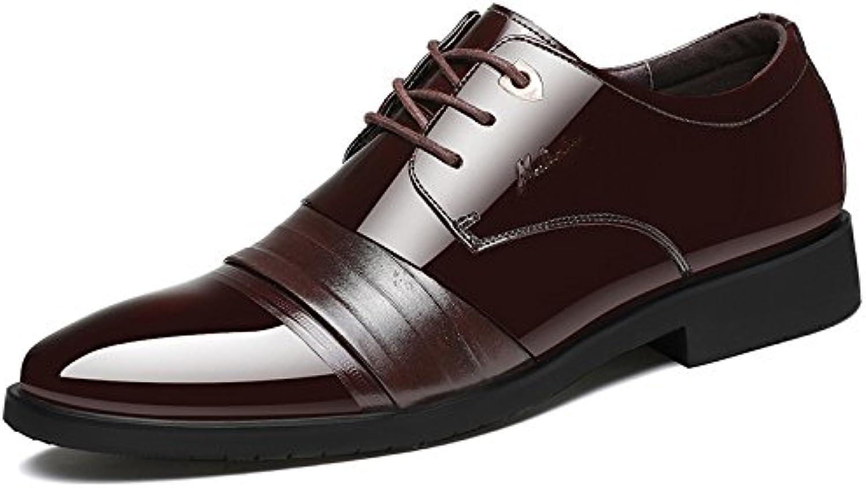 Zapatos De Cordones De Cuero Genuino Del Punky Del Negocio Del Dedo Del Pie Del Hombre Zapatos De Cordones Oxford... -