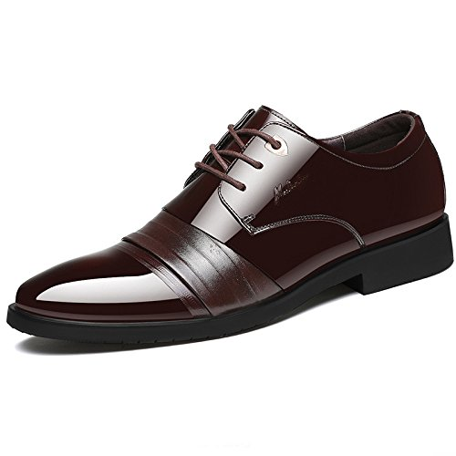 Mann Echtes Leder Derby Business Formal Spitzschuh Lace Up Schuhe Schwarz Casual Brautkleid Oxford...
