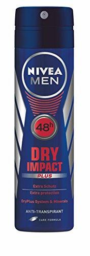 Uomini Nivea Deodorant Dry Impact Deodorante Spray Plus 4 pezzi (4 x 150 ml)
