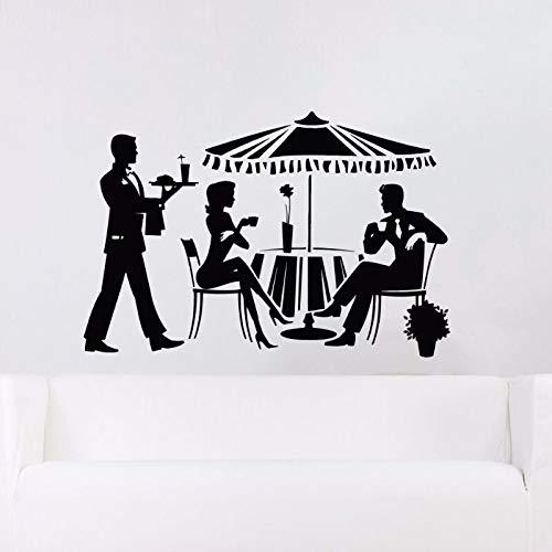 yiyitop Trinken Entspannen Wandtattoo Abnehmbare Cocktail Vinyl Aufkleber Entspannen Fenster Display Vinyl Aufkleber Restaurant Vinyl Wandkunst Wandbild 85 * 57 cm - Restaurant-display