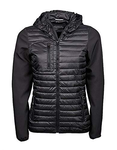 Ladies Hooded Crossover Jacket in Black/Black Größe: L