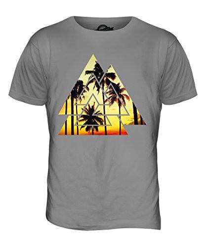 CandyMix Valknut Palmen Herren T Shirt Hellgrau