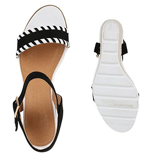 Calcanhar Liberianas Senhoras Verão Sandálias De Sapatos Planalto Preto Cunha Cunhas T0Rv7qw