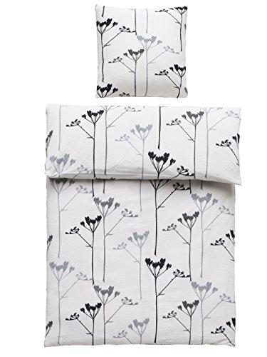 4 Teilig Seersucker Bettwäsche Mia 100 Baumwolle Mit Reißverschluss