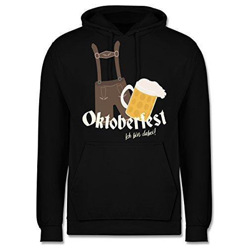 Oktoberfest Herren - Oktoberfest - Ich bin dabei! - XL - Schwarz - JH001 - Männer Premium Kapuzenpullover / Hoodie