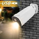 Wandleuchte mit Sensor, Wiederaufladbare LED Außenlampe Sensor Kabellos, Außenleuchte mit Bewegungsmelder Warmweiß, LED Wandlampe Innen Außen IP65 Wasserdicht für Eingang Flur Treppenhaus Garten