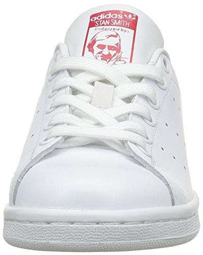adidas Unisex-Erwachsene Stan Smith Basketballschuhe Elfenbein (Running White Footwear/running White Footwear/collegiate Red)