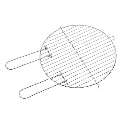 Grillrost rund mit Haltegriffen für Holzkohlegrill verchromt leicht zu reinigen