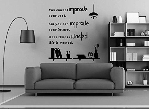 MEIWALL Englische Alphabet Inspirational Klassenzimmer schätzen Mal eine Große Wandsticker Wandaufkleber für Kinder Kinderzimmer Schlafzimmer Wohnzimmer Küche Kinderzimmer Wand Kunst Dekor Aufkleber