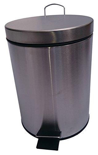 Treteimer Mülleimer Kosmetikeimer Abfalleimer aus Edelstahl 5L