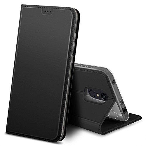 iBetter Funda Xiao Mi Redmi 5, Cubierta de cuero PU Multi-Angle Shockproof para Xiao Mi Redmi 5 Smartphone (Negro)