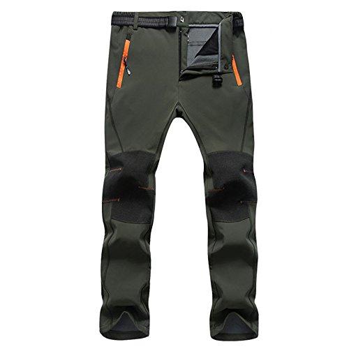 SUKUTU 2017 Men's Waterproof Windproof Outdoor Sports Pants Climbing Pants Soft Shell Fleece Breathable SU010
