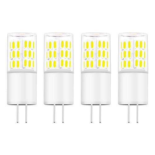 Bonlux G4 LED Birne 3W Warmweiß 3000K AC/DC 12V Bi Pin Sockel Sockel Leuchtmittel 360 Grad Halogenlampe Ersatz (4-Stück, Nicht Dimmbar) -