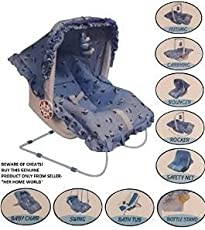 My Angel Dash Baby Product Carry Cot 9 In 1 - Blue 3 To 6 Months