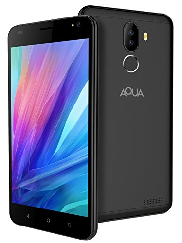 [Sponsored]Aqua Jazz 4G Android Smartphone Mobile With Dual Rear Camera, HD Screen & Fingerprint Security (Black, 16 GB)