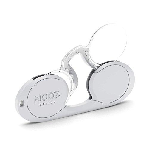 NOOZ - Bügellose Lesebrille Unisex - Silber +1,5 Oval - Immer griffbereit (Lesebrille Preiswerte)
