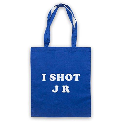 Inspiriert durch Father Ted I Shot JR Inoffiziell Umhangetaschen Blau