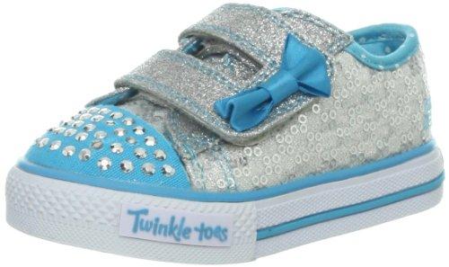 Skechers ShufflesSweet Steps, Mädchen Sneakers, Silber (SLTQ),  21 EU (4 UK)