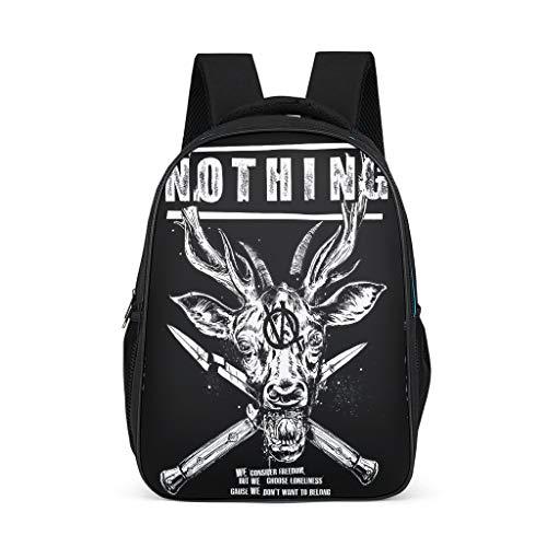Zhcon drucken Schulrucksack Schulranzen Multifunktionsrucksack Stilvolle Schultasche Backpack Studenten Freizeitrucksack für Travelite mit Seitentaschen