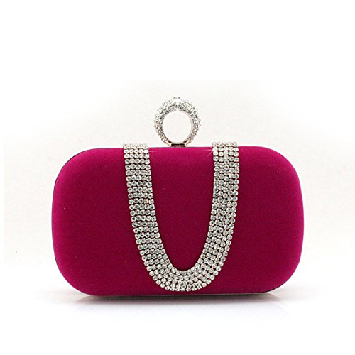 Mini Strass Handtasche/Bankett-Paket/Tasche Clutch Abendtasche/Ring-Verschluss-Tasche-A A