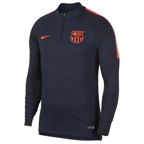 339aa7c1c Nike FCB Y NK Dry Squad DRIL TOP Fc Barcelona Langarm-fußballoberteil Für  Ältere Kinder