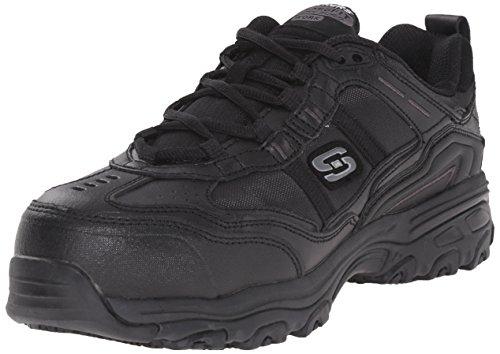 Composite-toe Sneaker (Skechers Arbeit D'Lite Rutschhemmende Toliand Composite-Toe Arbeitsschuh)