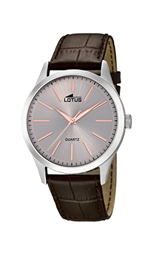 Lotus Watches Homme Analogique Classique Quartz Montre avec Bracelet en Cuir 15961/7