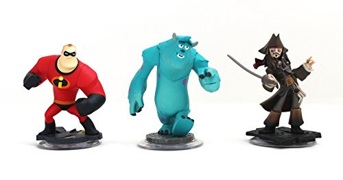 Disney Infinity Characters Jack Sparrow Mr Incredible, Monster Inc Sully Wii PS3 XBOX360 by Disney (Inc Monsters Sully)