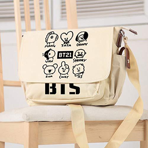 Kostüm Homme Dos De - HNdrcc Sumikko Anime Messenger Bag Umhängetasche Cartoon Funny Rucksack Troye Sivan Ausdruck Casual Bag Reisetasche/Sumikko-F/One Size