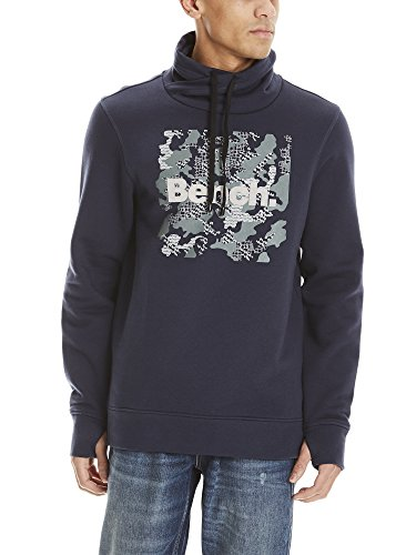 Bench Herren Sweatshirt Sweat HIGH Neck, Blau (Dark Navy Blue Ny031), Large
