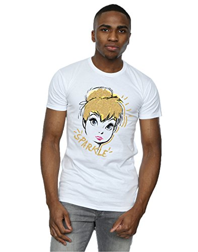 Disney Herren Tinkerbell Sparkle T-Shirt XX-Large Weiß (Tee T-shirt Tinkerbell)