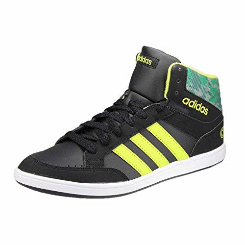 Adidas - Hoops Mid K - CG5735 - Couleur: Noir-Vert-Jaune - Pointure: 36.6