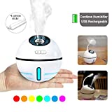 Cordless Rechargeable Cool Mist Humidifier Travel Air Humidifier USB Portable Mini Humidifiers Auto