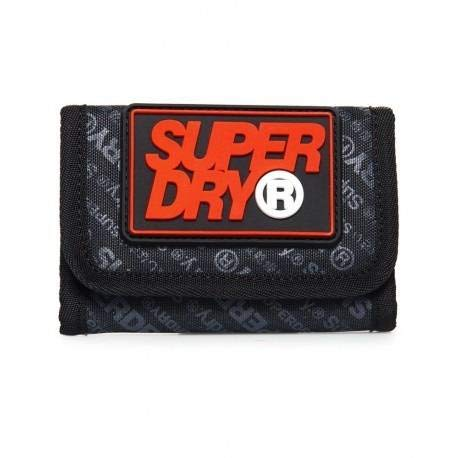 Superdry Herren S Boy Brieftasche mit Logo DARK MARL OS