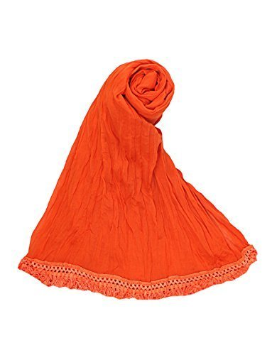ROOLIUMS ® (Brand Factory Outlet) Women's Cotton Dupatta (Pack of 1) (Orange)