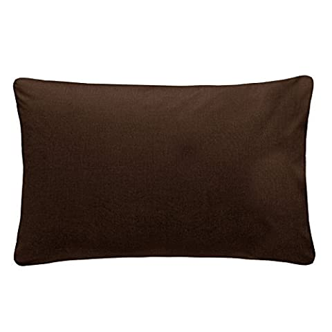 Just Contempo Plain Percale Pillow Case, 50 x 75 cm - Chocolate Brown, Pack of 2