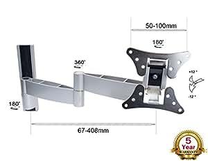 """LCD101 Support Mural à Bras Pivotants/ Inclinable pour Téléviseur LCD/Plasma 15-30"""""""