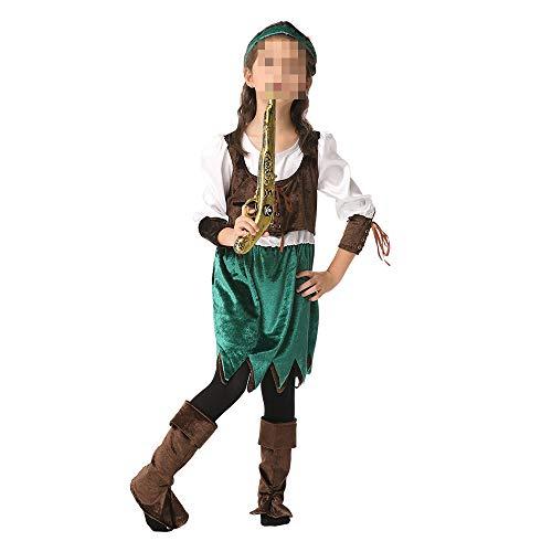 kMOoz Halloween Kostüm,Outfit Für Halloween Fasching Karneval Halloween Cosplay Horror Kostüm,Halloween Kinder Performance Kleidung Mädchen Pirat Tanz Cosplay Kostüm