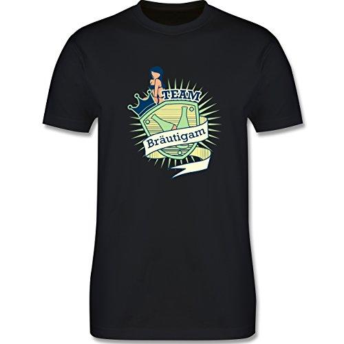 JGA Junggesellenabschied - Team Bräutigam Schild - Herren Premium T-Shirt Schwarz