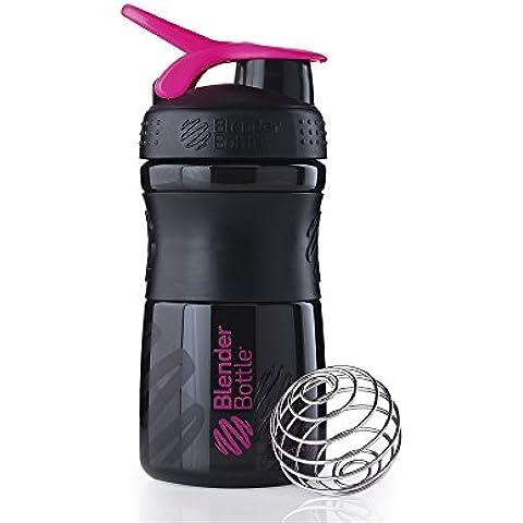 BlenderBottle Sportmixer Botella de agua y mezcladora 820ml (capacidad 820ml ) - negro/fucsia