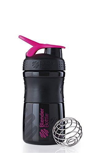 BlenderBottle Sportmixer Tritan Shaker   PRotein Shaker   Wasserflasche   Diät shaker (20oz / 590ml) - Schwarz-Pink - 20 Oz Mixer Flasche