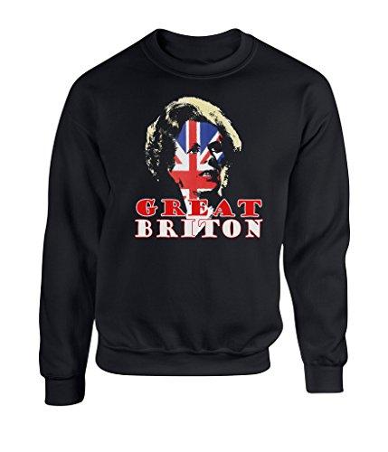 Margaret Thatcher Mens Sweatshirt - Great Briton' Conservative Tory Liberal British Flag Britain England English Maggie