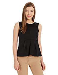 United Colors of Benetton Womens Body Blouse Shirt (17P5CH7E3500I_Black_M)