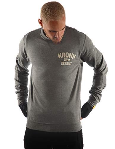Kronk Boxing Gym Detroit Sweatshirt mit Rundhalsausschnitt, Wladimir Klitschko, Thomas Hearns, Emanuel Steward Gr. XL, grey heather -