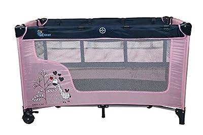 Profiseller Chiccot - Cuna de viaje para niños con colchón elevado para bebés. Portátil y plegable. 124 x 68 x 74 cm