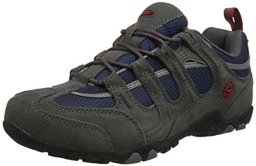 Hi-Tec Quadra Classic O005551 Herren Trekking- und Wanderhalbschuhe Grau (Charcoal/navy/red)